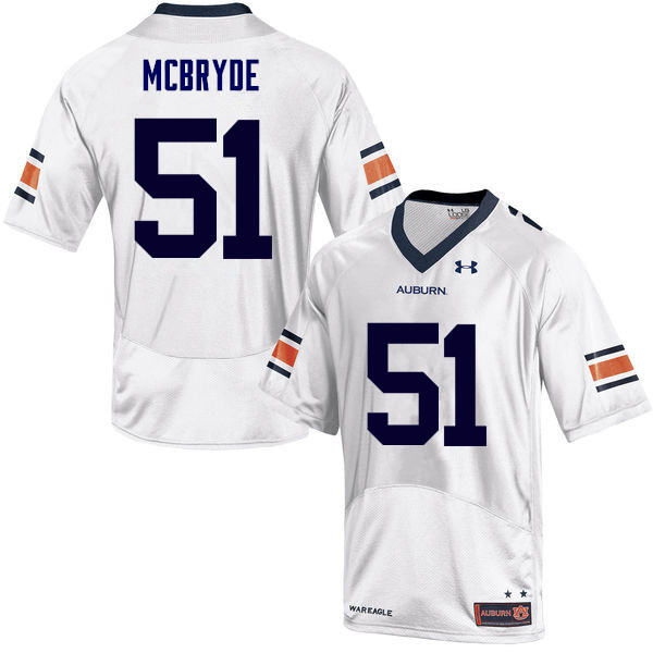 Men Auburn Tigers #51 Richard McBryde College Football Jerseys Sale-White